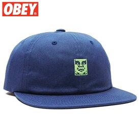 【ラスト1点】オベイ OBEY ICON 6 PANEL SNAPBACK(ネイビー NAVY)オベイキャップ OBEYキャップ オベイ帽子 OBEY帽子 オベイスナップバック OBEYスナップバック