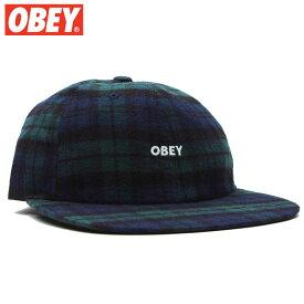 オベイ OBEY RHYE 6 PANEL SNAPBACK(ブラック 黒 BLACK MULTI)オベイキャップ OBEYキャップ オベイ帽子 OBEY帽子 オベイスナップバック OBEYスナップバック