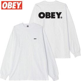 オベイ OBEY OBEY BOLD LONGSLEEVE TEE(ホワイト 白 WHITE)オベイロンT OBEYロンT オベイロングTシャツ OBEYロングTシャツ オベイ長袖 OBEY長袖