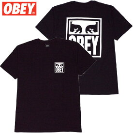 オベイ OBEY OBEY EYES ICON BASIC TEES(ブラック 黒 BLACK)オベイTシャツ OBEYTシャツ オベイ半袖 OBEY半袖
