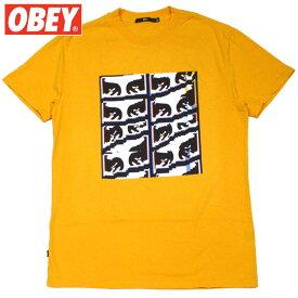 オベイ OBEY GLITCH BASIC PIGMENT TEE(DUSTY BAKED YELLOW)オベイTシャツ OBEYTシャツ オベイ半袖 OBEY半袖