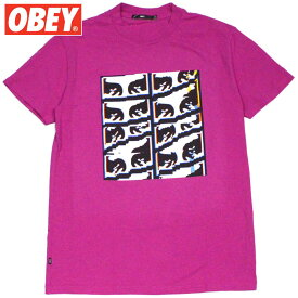 オベイ OBEY GLITCH BASIC PIGMENT TEE(DUSTY PSYCHEDELIC PINK)オベイTシャツ OBEYTシャツ オベイ半袖 OBEY半袖