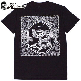 ハオミン HAOMING MASK PAISLEY Tshirt(ブラック 黒 BLACK)ハオミンTシャツ HAOMINGTシャツ ハオミン半袖 HAOMING半袖