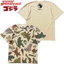 パンクドランカーズ PUNK DRUNKERS PDS x GODZILLA ゴジラ総柄TEE'21(ベージュ LT.BEIGE)パンクドランカーズTシャツ PUNK DRUNKERSTシ…