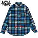ローリングクレイドル ROLLING CRADLE CHECK SHIRT(ブルー 青 BLUE)ローリングクレイドルチェックシャツ ロリクレチェックシャツ ROLLI…