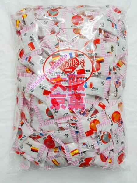 大阪京菓ZR大加製菓 ありがとうキャンディ1kg〔967円〕×1袋 +税 【業】