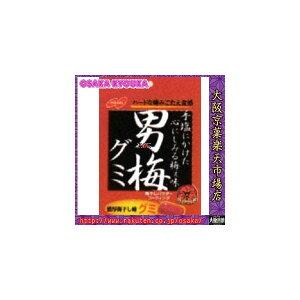 【メール便送料無料】大阪京菓ZRノーベル製菓 38g 男梅グミ×6個 +税 【ma】