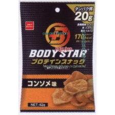 おやつカンパニーBODYSTARプロテインスナックコンソメ味(42G)×24個