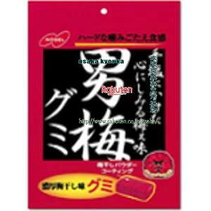 大阪京菓 ZRx駄菓子 ノーベル38G男梅グミ×6個 +税 【駄xima】【メール便送料無料】