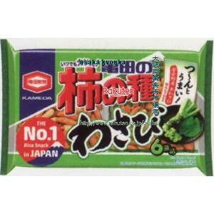 亀田の柿の種 わさび 6袋詰