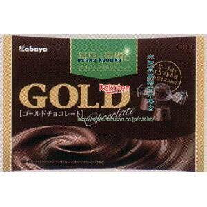 大阪京菓 ZRxカバヤ食品 183Gゴールドチョコレート【チョコ】×24個 +税 【x】【送料無料(沖縄は別途送料)】