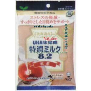 大阪京菓 ZRxユーハ味覚糖 93G機能性表示食品特濃ミルク8.2紅茶×288個 +税 【xr】【送料無料(沖縄は別途送料)】