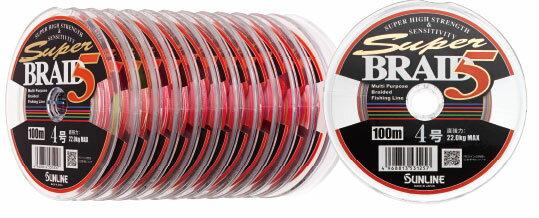 【メール便発送できます!】 サンライン(SUNLINE) スーパーブレイド5 1.5号100m〜連結 超高感度・超高強力特性PEライン