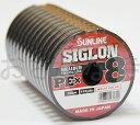 【メール便発送できます】 サンライン SUNLINE SIGLON シグロン PE X8 12号(160lb/70.0kg) 100m〜連結 8本組PEライン マルチカラー10m×5色