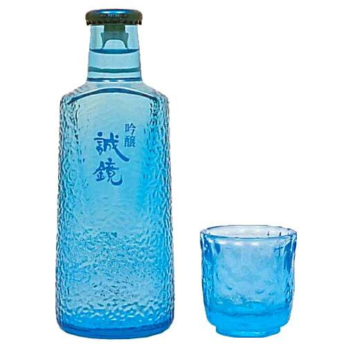誠鏡 吟醸 シャレボトル(グラス付) 180ml 【ギフト プレゼント】【広島 日本酒】