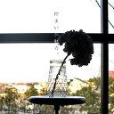 佇まいが魅力。エンボス加工がどこかレトロなクリアフラワーベース。お花のある生活にかかせないおしゃれ花瓶 アンテ…