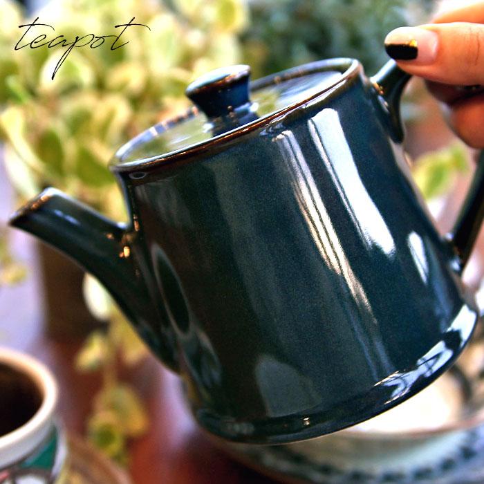 北欧ブルーが綺麗なティーポット 重ねて収納 伝統工芸美濃焼 日本製 洋食器 和食器 オシャレ食器 カフェ CAFE モダン レトロ お洒落 陶器 モダン アンティカフェ