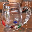 大人気の為、再再入荷! 【ガラス/グラス】水玉マグカップ アンティーク ヴィンテージ オシャレ食器 カフェ CAF…