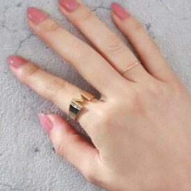 リング イニシャル アルファベット ゴールド メタル A K M R S Y 13号 指輪   アクセサリー レディース 女性 大人 プレゼント ギフト 結婚式 誕生日 おしゃれ オシャレ 可愛い シンプル