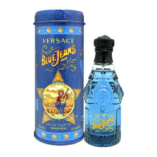ヴェルサーチ ブルージーンズEDT 75ml(オードトワレ)【香水】【60サイズ】【コンビニ受取対応商品】 (6002872)