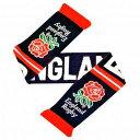 ファンが大喜び/ラグビー/イングランド 代表/ニット スカーフ/一目でわかるバラのロゴ/街のファッション/防寒/ラグビ…