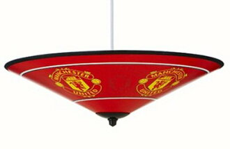 United Kingdom imports! Manchester United! Upright lamp shades! Ceiling light umbrella! It's indirect lighting from the ceiling! In this ManU mood Room Makeover!