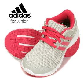 adidas Energy CLOUD K アディダス エナジークラウドK キッズ・ジュニアスニーカーシューズ ローカット BY2085 レースアップ 紐 ひも メッシュ 子供 子ども 靴 くつ 女の子 女児 グレー ピンク 17 18 19 20 21 21.5 22 22.5 23 23.5 24 送料無料【ラッキーシール対応】