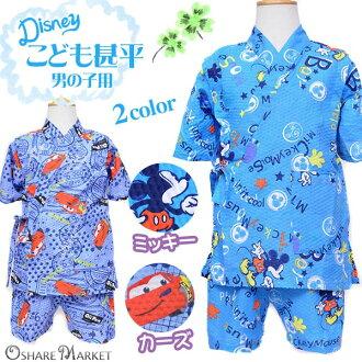 Disney character pattern for kids ' Jinbei jinnbei ripple kids boys boys Mickey Mouse cars blue 100 110 120 soldout