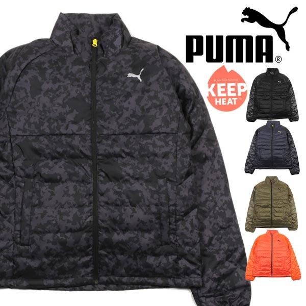 【送料無料】大きいサイズあり PUMA プーマ Liteダウンジャケット メンズ 834984 男性 アウター ジップアップ 防寒 収納袋 フェザー キルティング ブラック ニューネイビー バーントオリーブ バーミリオンオレンジ ペリスコープ S M L XL