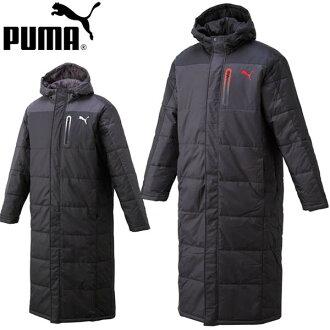 大尺寸和彪馬納卡瓦長大衣棉罩派克帽子板凳上的大衣外套訓練夾克 920206 男人男人黑潛望鏡 M L O 10P01Oct16