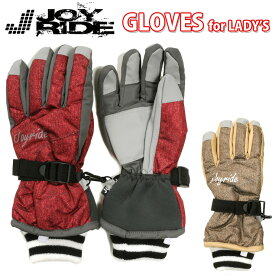 JOY RIDE ジョイライド レディース用スキーグローブ 女性 婦人 手袋 AG-6422スキー手袋 5本指 防寒 保温 吸湿 発熱 滑り止め すべり止め ウィンタースポーツ フリースインナー M L メール便送料無料