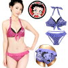 Betty Boop dot pattern bikini swimsuit Betty Boop Betty Lady's swimwear waterdrop halterneck frill ribbon pink purple 7S 9M 11L