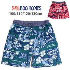SUPER BOO HOMES スーパーブーホームズ キッズ用スイムパンツ水着 男の子用 100 110 120 130 子供 こども 37751332 海パン 海水パンツ サーフパンツ 短パン ショートパンツ みつばち HONEY グリーン レッド メール便可