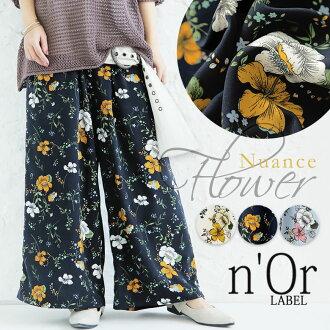 "Selectable M - 3L size development! ""n'Or floral design wide underwear"""