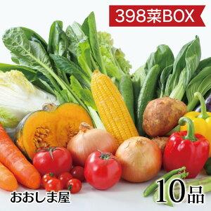 398菜BOX(サンキューやさいボックス)野菜 10品 詰め合わせ 野菜セット 夏野菜 冬野菜 冷蔵便 おおしま屋出荷 送料無料 ギフト 大嶌屋(おおしまや)