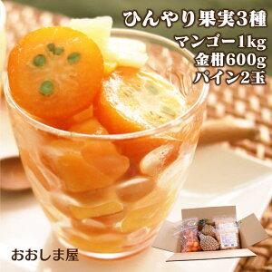 \ポイント2倍/果物 フルーツ 送料無料 冷凍 ひんやり セット フローズン 果実 パイナップル 金柑 マンゴー