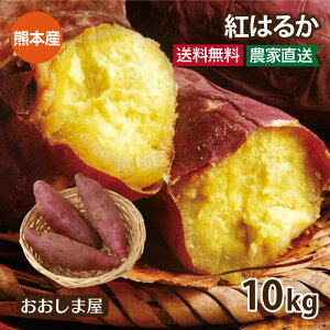 さつまいも 紅はるか 10kg 送料無料 国産 熊本 サツマイモ べにはるか 生芋 さつま芋 唐芋 からいも 土付き 泥付き 野菜 大嶌屋(おおしまや)【gift】
