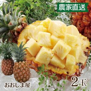 濃蜜 立派な 島パイン 2玉 パイン パイナップル ボゴールパイン(スナックパイン)ピーチパイン(ミルクパイン)農家直送 大嶌屋(おおしまや)