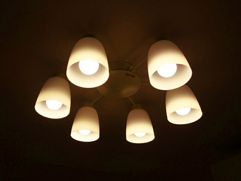 【中古】 コイズミ照明 AA37738L φ610 シャンデリアライト LED電球付き ホワイト 16年製 〜8畳用 【Q1226-03】
