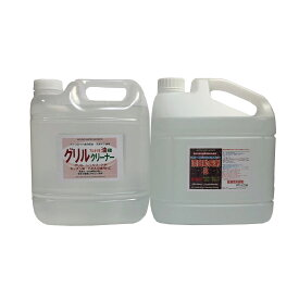 モルタル洗浄用 アルカリ洗剤A液4.0Lと漂白助長剤B液4.0Lのセット「医薬用外劇物」