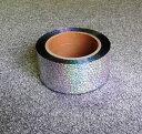 ホログラム メッキテープ シルバー 約50mmチア ポンポン材料 ボンボン メッキテープ チアガール ホログラムテープ キ…