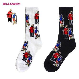 40s&Shorties(四十和表演球座)Hanging Out Socks美国洛杉矶袜子名牌短袜名牌街道男女两用嘻哈DEATH ROW RECORDS