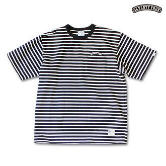 """"" SEVENTY FOUR (seventy four) BORDER POCKET T-SHIRT heavyweight cotton horizontal stripe T-shirt breast pocket round emblem TENDERLOIN tenderloin STUSSY ステューシー"