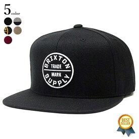 BRIXTON (ブリクストン) OATH III SNAPBACK キャップ メンズ ブランド 帽子 ワッペン フラット スナップバック アジャスター 黒 ブラック グレー 57-62cm 【送料無料】 【あす楽対応】