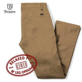 BRIXTON(师鱼樟吨)FLEET RIGID RELAXED FIT 5-POCKET PANT(再纪德生)[裤子黑舒适的裤子人工作裤笔直裤子]