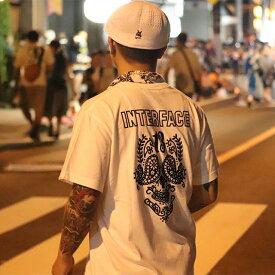【メール便送料無料】 INTERFACE X LINKAGE - MUERTO TEE Tシャツ メンズ ブランド 19夏 綿100% 半袖 スカル 白 S/M/L/XL/XXL 大きいサイズ 【あす楽対応】