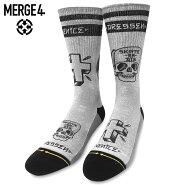 【メール便送料無料】MERGE4SocksXERICDRESSEN-DRESSENエリックドレッセンスケートソックスメンズミッドレングスグレーL27-30cm【あす楽対応】