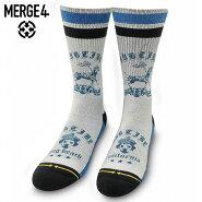 【メール便送料無料】MERGE4SocksXSUBLIME-SUBLIMELOUDOGサブライムソックスメンズミッドレングス白L27-30cm【あす楽対応】