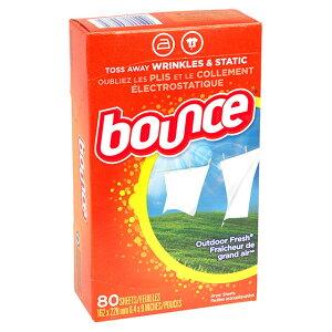 4/16(金) 再入荷! Bounce (バウンス) Outdoor Fresh Fabric Softener Dryer Sheets 80シート 柔軟シート 柔軟剤 シートタイプ 柔軟剤 シート 乾燥機 乾燥機用柔軟仕上剤シート ドライヤーシート P&G 【あす楽対