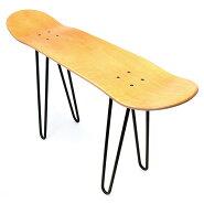 【NewYearSALE】10%OFFOSCSKATEBOARDEQUIPMENTスケートボードスケボーチェアスツール椅子イスいすベンチテーブル什器ラックおしゃれ背もたれなし1人用42cmスチールデッキ脚ビスナット黒【あす楽対応】